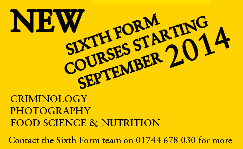 NEW 6TH FORM COURSES