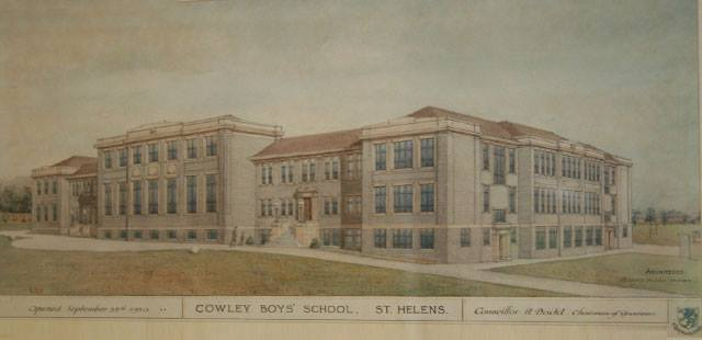 Cowley Boys School, postcard