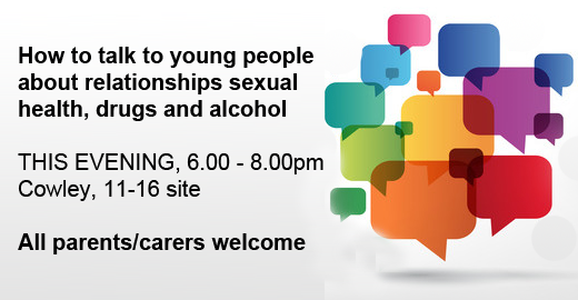 Event for parents/carers – BOOKING REQUIRED